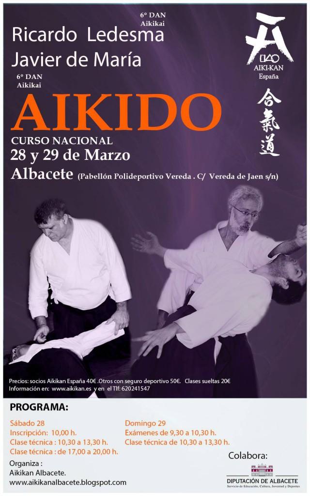 Aikido en Albacete con Ricardo Ledesma y Javier de María