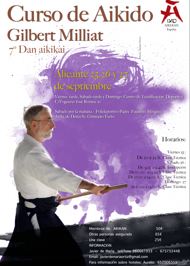 Aikido en Alicante con Gilbert Milliat