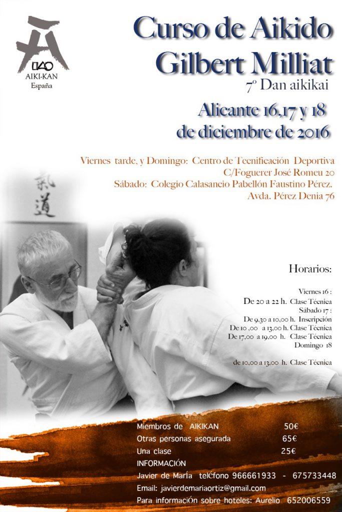 Curso de Aikido en Alicante con Gilbert Milliat