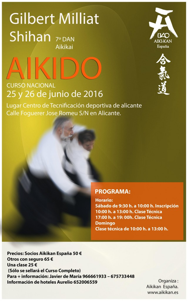 Aikido Alicante Gilbert Milliat